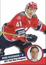 2017 Hot Shot Prospects rookie MIRO HEISKANEN Finland