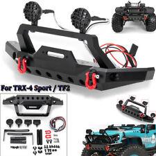 Metal Front Bumper w/ Led Light for 1/10 RC Crawler TRAXXAS TRX-4 Sport TF2 Car