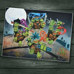 TMNT Teenage Mutant Ninja Turtles A2 limited Giclee art print SIGNED ARTIST