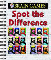 Brain Games® Spot the Difference - Spiral-bound - GOOD
