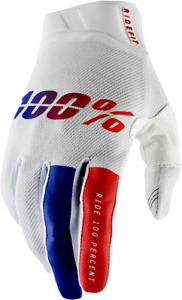 100% Ridefit Gloves - Red/White/Blue / All Sizes