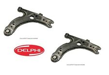 VW Golf Jetta Beetle Pair Set of 2 Front Lower Control Arms with Bushings Delphi