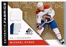 07-08 SP Game Used AUTHENTIC FABRICS xx/50 Made! Michael RYDER - Canadiens