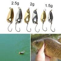 1xspoonmetalfishing lure bait bass fishing bait tackle1.5/2/2.5g golden/silve DD