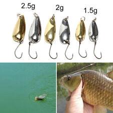 1xspoonmetalfishing lure bait bass fishing bait tackle1.5/2/2.5g golden/silverLJ