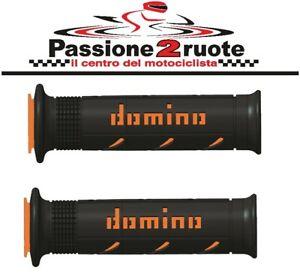 Puños Domino XM2 Negro Naranja KTM 450 560 SMR 640 650 990 Adventure 690 Enduro