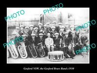 OLD LARGE HISTORIC PHOTO OF GOSFORD NSW, VIEW OF THE GOSFORD BRASS BAND c1930