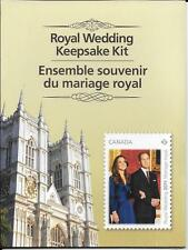 William and Kate Canada 2011 Royal Wedding Keepsake Kit