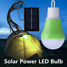 LED Solar Powered Bulb Light Rechargeable Outdoor Camping Tent Lamp Portable AU
