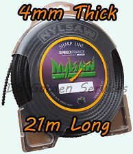 NYLSAW 4mm x 21m Length SPIKY Line SERRATED SHARP STRIMMER TRIMMER WIRE CORD