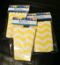 5 Yellow Chevron Favor Boxes Baby Gender Reveal Party Decor Popcorn Style
