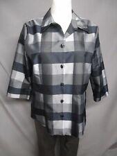 Cavita blusa negro-gris 3/4 brazo talla 42 como nuevo (z72)