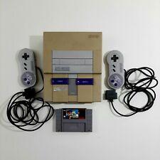 Super Nintendo SNES Original Console Bundle Tested Works with Mario Paint