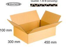 20 Faltkartons 450x300x100 mm B-410g/m2  Versandkarton Falt Kartons [ BRAUN ]