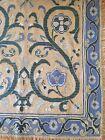 Beautiful, rare, antique Portuguese Arraiolos rug carpet 18th century