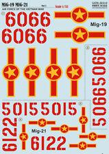Print SCALE DECALS 1/32 Mikoyan MiG-19 MiG-21 guerre du vietnam nº 32014