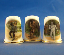 Birchcroft Thimbles -- Set of Three --  Wizard of Oz Characters