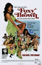 PAT GRIER SIGNED FOXY BROWN 11X17 MOVIE POSTER PSA COA AD48242