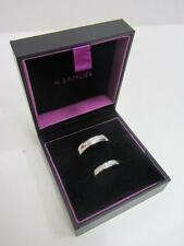 9ct (375) WHITE GOLD DIAMOND BANDS HIS & HERS RING SET FULLY UK HALLMARKED