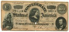 February 17, 1864 $100 Confederate States of America T-65 Seventh Issue 23164