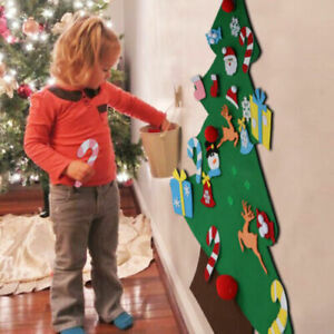 DIY Felt Christmas Tree Kit Set New Year Xmas Gifts Kids Toys Wall Hanging Decor