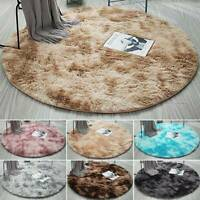 Fluffy Shaggy Round Rug Living Room Bedroom Soft Floor Carpet Mat Home Decor US