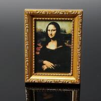 1/12 Puppenhaus Miniatur Malerei 19th Century Mona Lisa Bild Foto Neu D6M2
