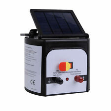Electric Fence Solar Charger Energiser Power Energizer Farm Pet Animal to 15km