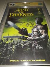 2x Signed Sketched Army of Darkness #1 CGC SS 9.8 - Bruce Campbell & Sam Raimi