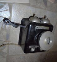 1920s Stromberg Carlson vintage Intercom Wall Telephone, mother of pearl buttons
