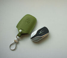 Leather Remote Key Chain Case Cover Fob For New Maserati