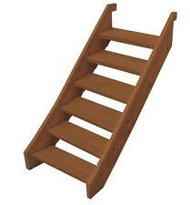 EZI-STEP MERBAU TIMBER STAIR KIT - 6 X STEP  COMPLETE WITH TREADS AND SCREWS