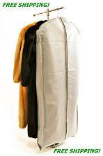"3 Expandable Fur Storage  Bags Zippered 60"" Long w/Handles Coat, Jkt. Free Ship"