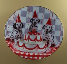 Dalmatian Celebration Comical Dalmatians Plate Dog Puppy Birthday Party Hamilton