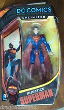 INJUSTICE SUPERMAN ACTION FIGURE. DC COMICS UNLIMITED. BASED ON THE VIDEO GAME