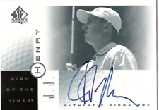 2001 SP Authentic Sign of the Times JJ HENRY Autograph / Signed Card (B7)