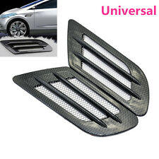 Car Side Air Flow Vent Fender Hole Cover intake grille conduit Décoration Autocollant