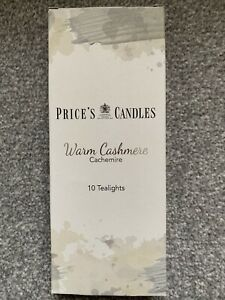 PRICE'S CANDLES~Warm Cashmere --10 tea lights~new / boxed
