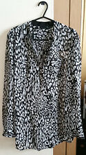Womens Leopard Print Black And White