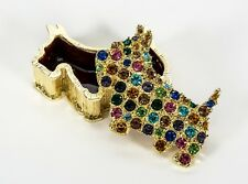 Olivia Riegel Scottie crystals multi gems Jewelry Treasure Box