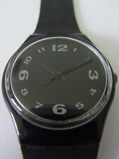 GB144 New Swatch - 1992 After Dark All Black Classic Swiss Made Authentic