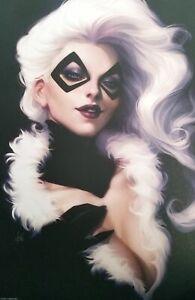 "Black Cat Art Poster Print by Stanley ""Artgerm"" Lau, 9.5x14.25 New Marvel Comics"
