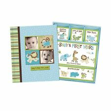 Baby Boy Memory Book Hardcover Record Babys First Five Years Diary Precious M.