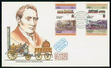 Mayfairstamps Tuvalu FDC 1984 Locomotive Combo George Stephenson First Day Cover