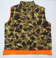 VTG Gamehide Hunting Vest Mens Large Camo/Orange Reversible EC