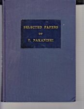 Selected Papers of F Nakanishi (Hardcover) 1966 Book 320 pages Engineering / k1
