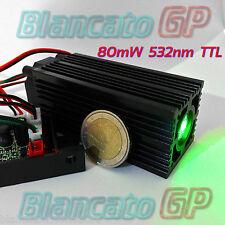 MODULO LASER 12V 532nm VERDE 80mW TTL FASCIO LARGO diode stage module fat beam