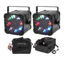 2 x Equinox CROSSFIRE gobo effetto di illuminazione a LED & 2 X ACCU-CASE Bags