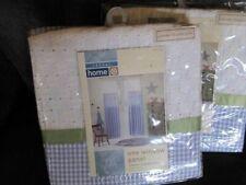 "2 KIDS BABY LAVENDER GINGHAM EYELET WINDOW PANELS 84"" X 54"" NIP"