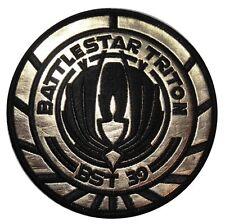 "Battlestar Galactica BST 39 Triton Officer 4"" Gold Foil Shoulder Logo Patch"